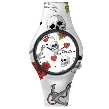 Doodle Watch Hearts & Skulls STL