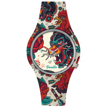 60a455802 Doodle Watch Panther Oldschool - Clarkson Jewelers