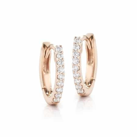 Horseshoe Earrings - Rose Gold - 0.13 Ct.