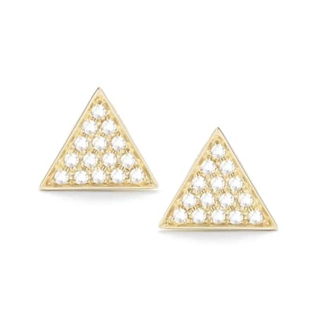 Triangle Earring - Yellow Gold - 0.12 Ct.
