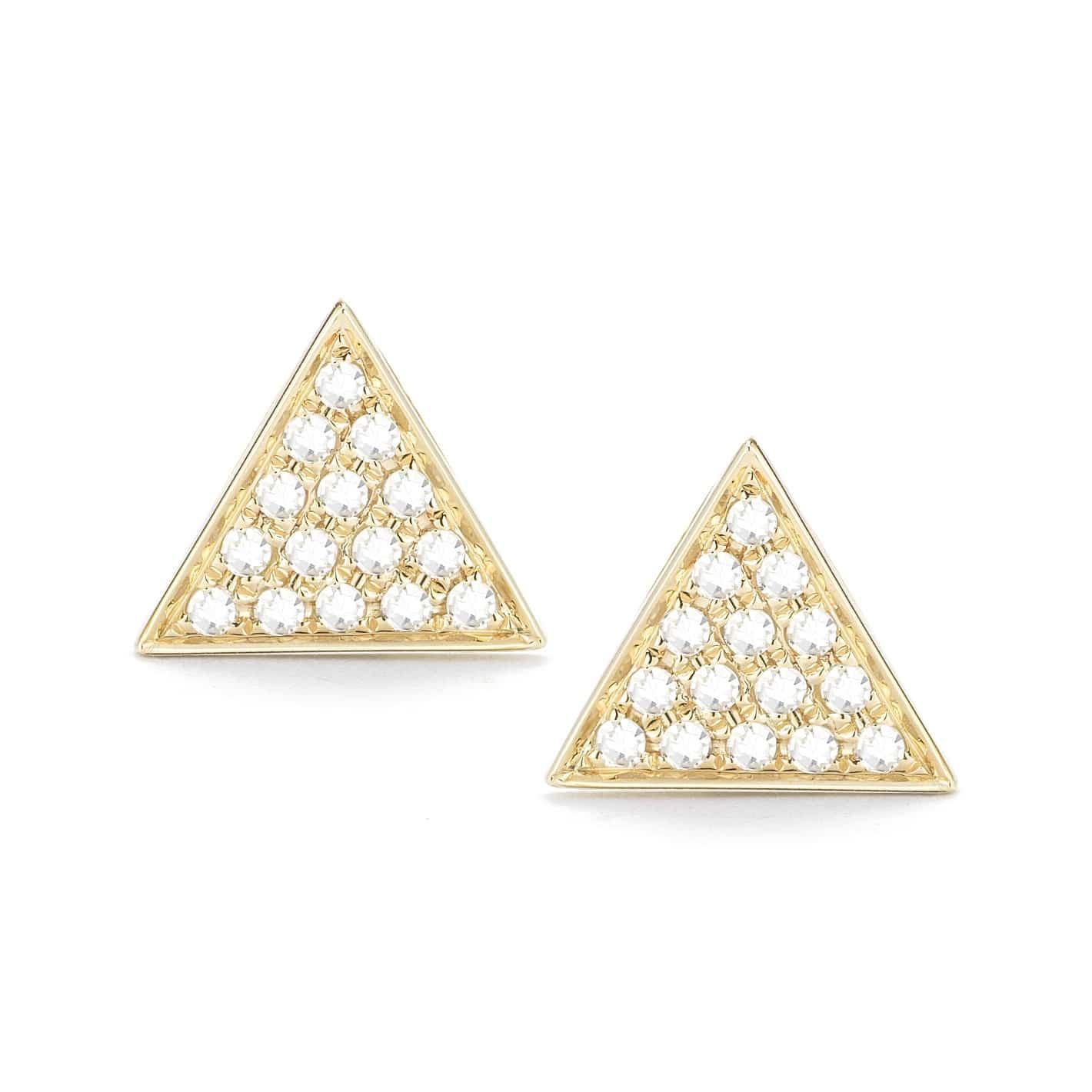 Dana Rebecca Emily Sarah Yellow Gold Triangle Stud