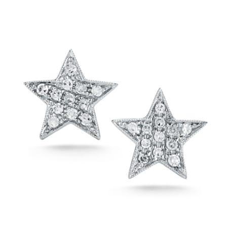 Star Earrings - White Gold - 0.11 Ct.