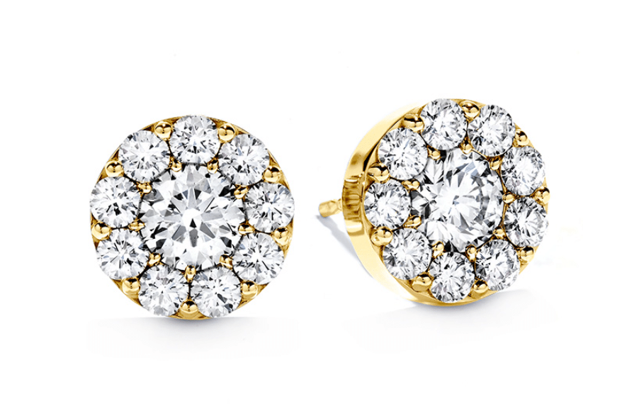 Hearts On Fire Yellow Gold Diamond Fulfillment Stud Earrings Clarkson Jewelers